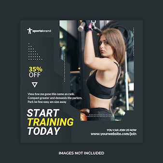 Fitness banner gym social media