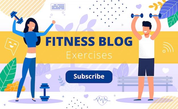 Blog sul fitness sport training contenuto del canale video
