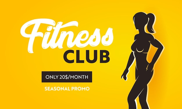 Banner promozionale stagionale del fitness club