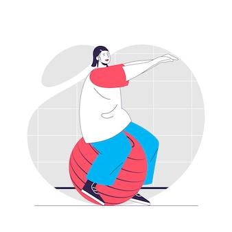 Illustrazione del concetto di fitness