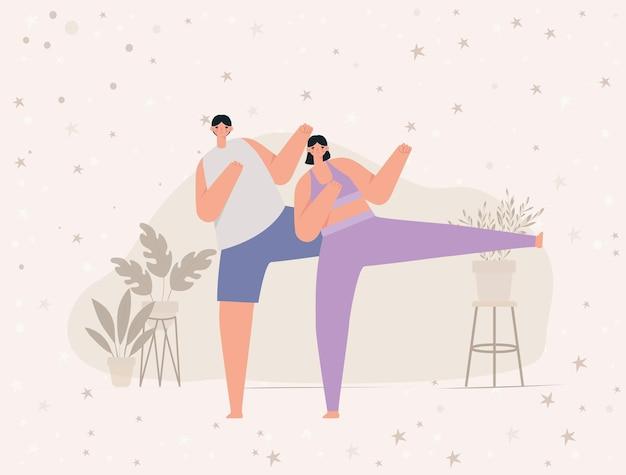 Icona di coppia fitness