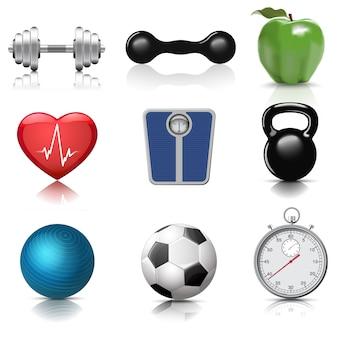 Set di elementi di fitness