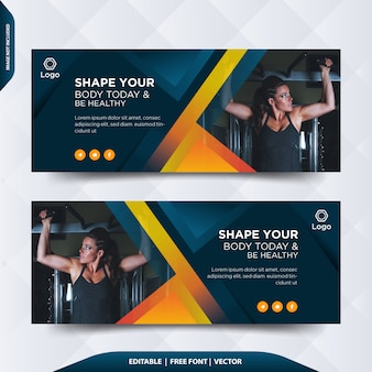 Copertina o intestazione di facebook fitness