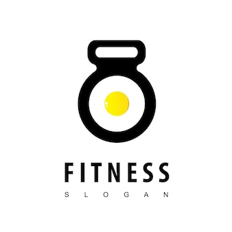 Logo di cibo fitness