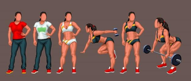 Set ragazza fitness
