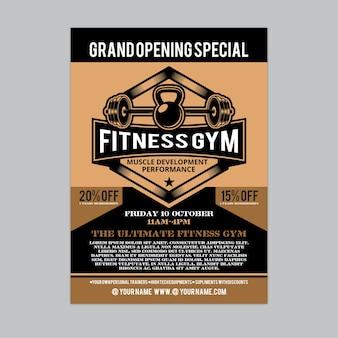Fitness - flyer da palestra