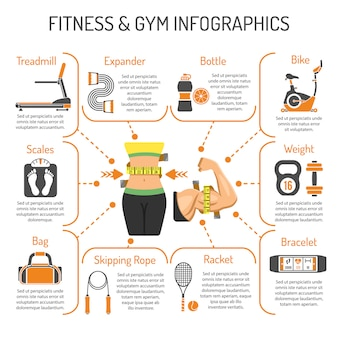 Infografica fitness e palestra
