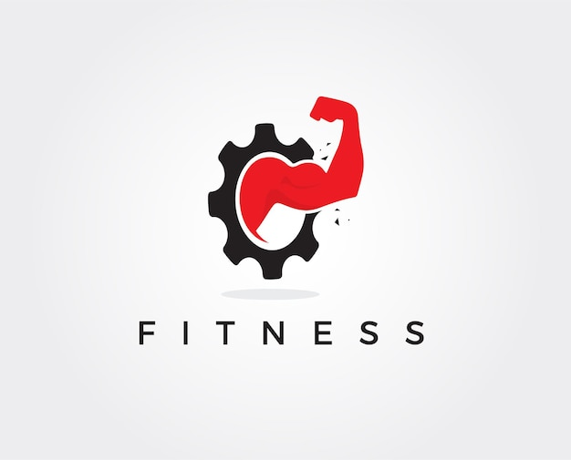 Modello di progettazione del logo della palestra fitness