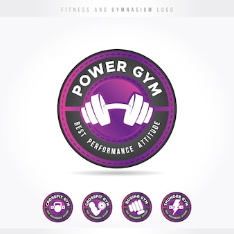 Fitness e palestra logo rosa