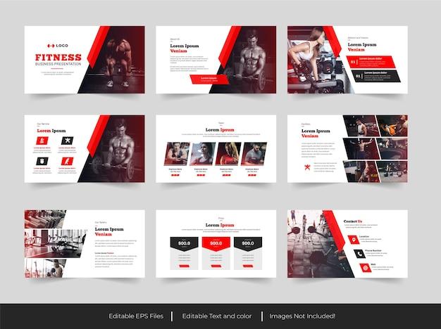 Design del modello di presentazione di fitness e palestra
