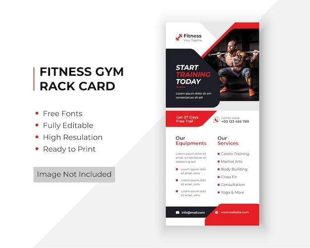 Volantino dl carta rack palestra fitness modello premium
