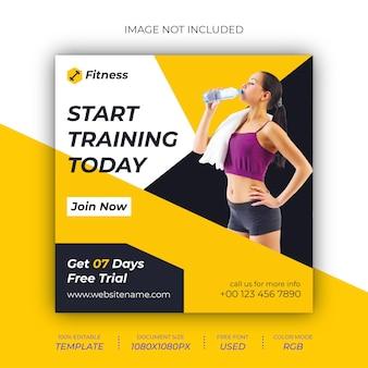 Modello di progettazione post social per palestra fitness