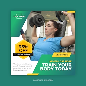 Fitness palestra sport post