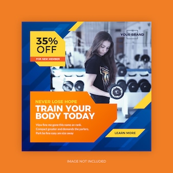 Fitness gym sport social post