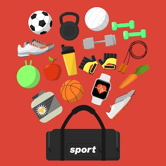 Fitness e stile di vita sano sfondo