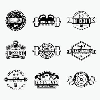 Distintivi logo fitness 5