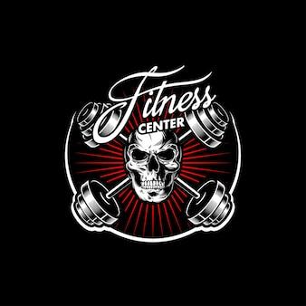 Logo del centro fitness con teschio a testa