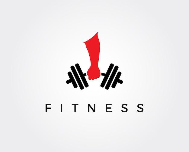 Modello di progettazione del logo fitness, design per palestra e fitness