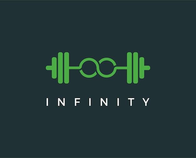 Modello di progettazione del logo fitness