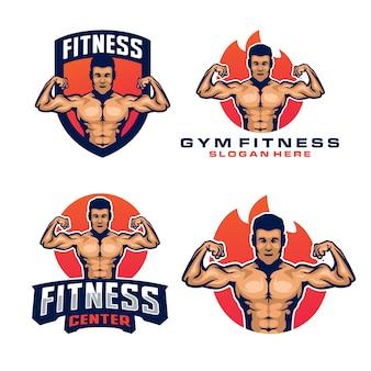 Modello di logo di fitness