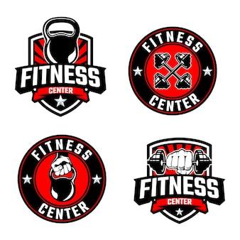 Modello di logo fitness