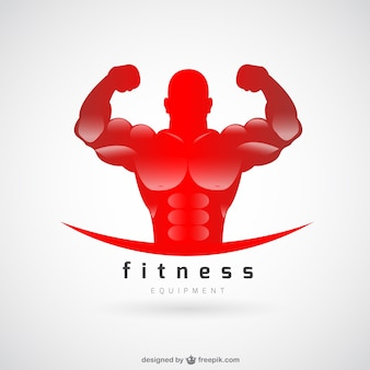 Fitness club logo vettoriale