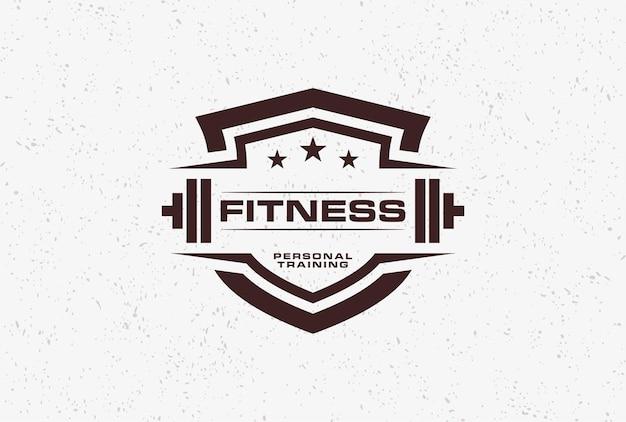 Ispirazione per il design del logo dello scudo fitness.