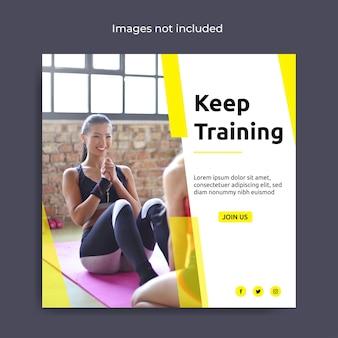 Modello di post per social media fitness