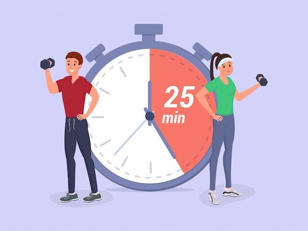 Tempo di fitness piatto