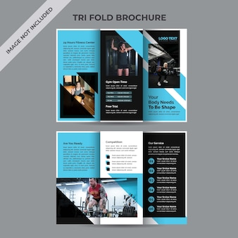 Modello di brochure ripiegabile per il fitness