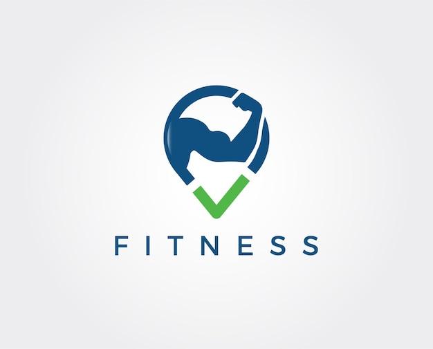 Modello di progettazione logo vettoriale fitness fitness