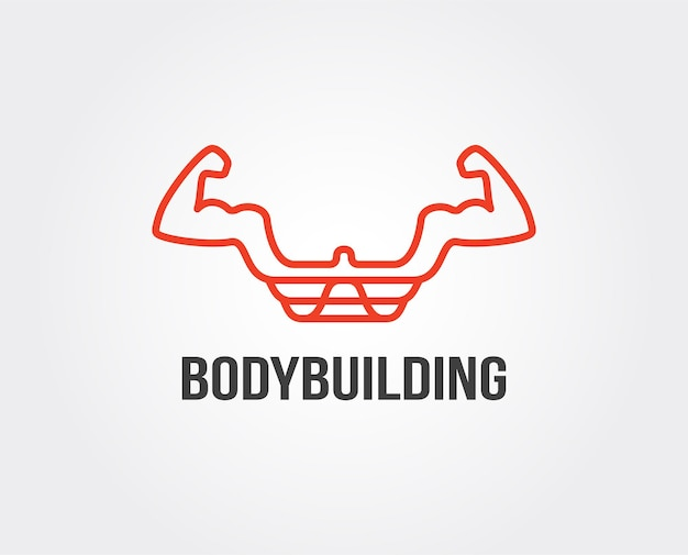 Modello di logo vettoriale fitness
