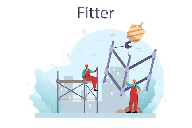 Illustrazione di installatore o installatore