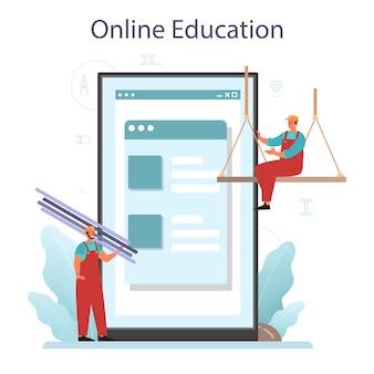 Piattaforma o servizio online di installatore o installatore.