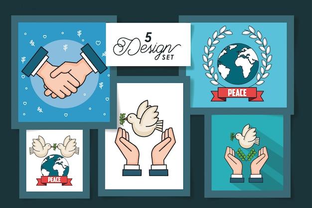 Cinque carte della giornata internazionale della pace