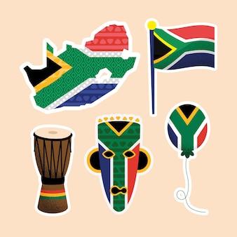 Cinque icone del set del giorno del patrimonio