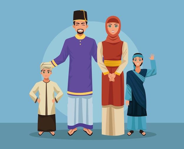 Cinque gruppi di famiglie musulmane