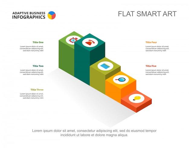 Modello di diapositiva del progetto five options