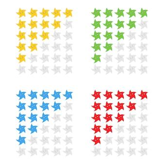 Icona di valutazione di cinque stelle.