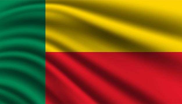 Bandiera del modello di sfondo del benin.