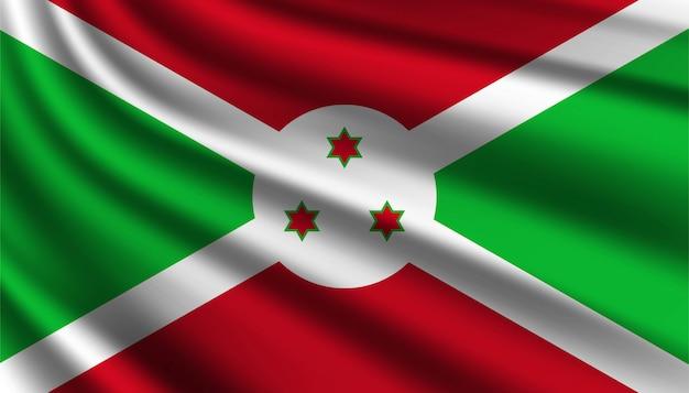 Bandiera del modello di sfondo del burundi.