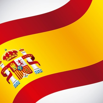 Bandiera icona classica della cultura spagnola