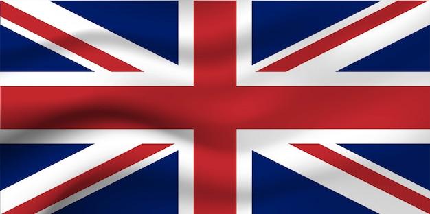 Bandiera dell'inghilterra sullo sfondo.