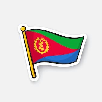 Bandiera dei paesi dell'eritrea in africa simbolo di posizione per i viaggiatori illustrazione vettoriale
