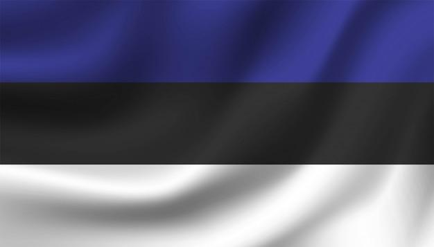 Bandiera del modello di sfondo dell'estonia.