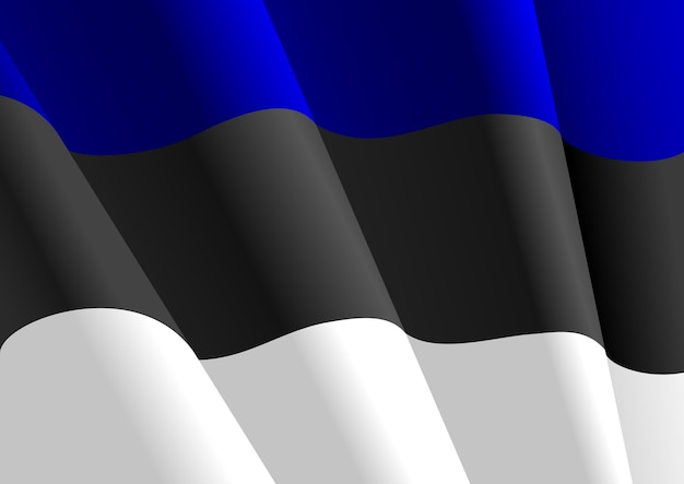 Bandiera dell'estonia Vettore Premium