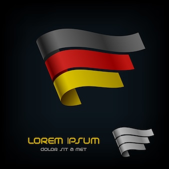 Bandiera della germania, logo del nastro.