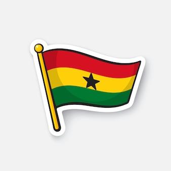 Bandiera dei paesi del ghana in africa simbolo di posizione per i viaggiatori illustrazione vettoriale