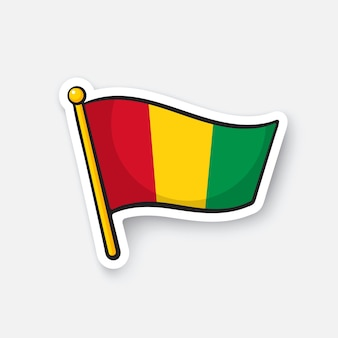 Bandiera dei paesi della guinea in africa simbolo di posizione per i viaggiatori illustrazione vettoriale