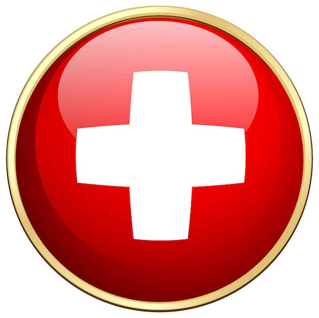 Disegno dell'icona della bandiera per la svizzera